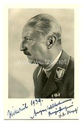III. Reich - Originalunterschrift von S.A. Obergruppenführer Prinz August Wilhelm von Preussen