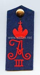 Preußen Einzel Schulterklappe für Mannschaften im Ulanen-Regiment Kaiser Alexander III. von Rußland (Westpreußisches) Nr. 1