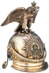 Preußen Helm für Offiziere im Regiment Gardes du Corps bzw. Garde-Kürassier-Regiment - als silbernes Offiziersgeschenk
