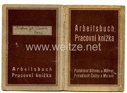 III. Reich - Protektorat Böhmen und Mähren - Arbeitsbuch für eine Frau des Jahrgangs 1900