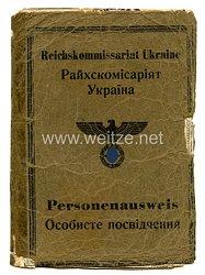 III. Reich / Reichskommissariat Ukraine - Personenausweis für eine Frau des Jahrgangs 1905
