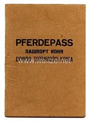 III. Reich /Pferdepass für eine Stute des Jahrgangs 1941 im Generalgouvernement in Shivtyn (Galizien)