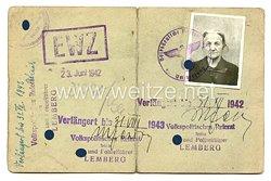 III. Reich - Generalgouvernement Distrikt Galizien - Der Stadthauptmann in Lemberg - Vorläufiger Ausweis der deutschen Volkszugehörigkeit