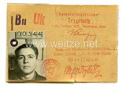 III. Reich - Generalgouvernement Werkschutz - Ausweis der Berg und Hüttenwerk GesellschaftGemeinschaftslager Trzynietz