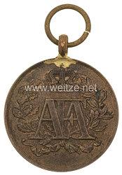 """Sachsen Königreich Dienstauszeichnung 1831-1873 bronzene Medaille für 10 bis 24 Dienstjahre """"für lange u. gute Dienste"""""""