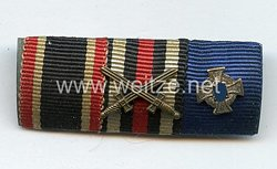 Bandspange eines Veteranendes 1. Weltkriegs und späteren Beamten