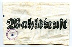 III. Reich Armbinde Wahldienst und Hilfspolizei (HiPo)