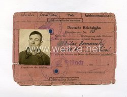 III. Reich - Dienstausweis Reichsbahn für einen Ostarbeiter des Jahrgangs 1904