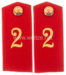 Preußen Paar Schulterklappen für den Mantel für Mannschaften im Ulanen-Regiment von Katzler (Schlesisches) Nr. 2