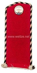 Preußen Einzel Schulterklappe für einen Einjährig Freiwilligen im2. Hannoverschen Ulanen-Regiment Nr. 14