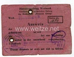III. Reich - Ausweis für einen Ostarbeiter