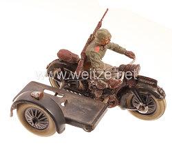 Lineol - Heer Motorradfahrer mit Beiwagen für Verwundete