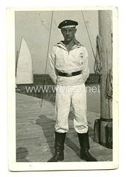 """HJ Portraitfoto eines Marine-HJ Jungen """"Reichsseesportschule"""""""