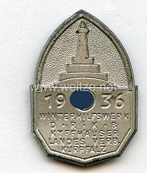 III. Reich - Winterhilfswerk D.R.K.B. Kyffhäuser Landesverband Kurpfalz 1936