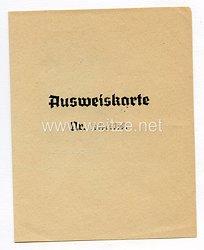 III. Reich - Ausweiskarte des WeißruthenischesSelbsthilfekomitee in Deutschland für eine Frau des Jahrgangs 1919