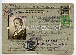 III. Reich - Ostbahn - Kolej Wschodnia Personalausweisfür eine Frau