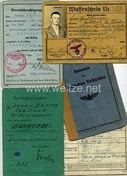 III. Reich - Dokumentennachlass eines Zivilisten aus dem KreisDirschau(Danzig-Westpreußen )