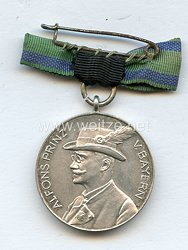 Bayern Prinz Alfons silberne Erinnerungsmedaille 1933 des Bayrischen Schützen-Verbandes