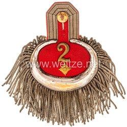 Preußen Einzel Epaulette für einen Oberstleutnant zur Disposition im Pommerschen Pionier-Bataillon Nr. 2