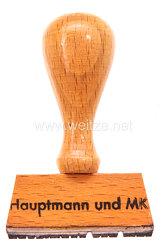 """Wehrmacht Dienststempel """"Hauptmann und MKP"""""""