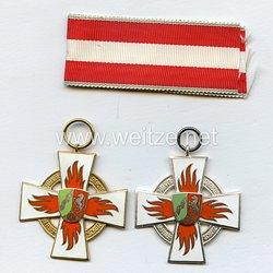 Bundes Republik Deutschland ( BRD ) 2 Feuerwehr-Ehrenzeichen ( Nordrhein-Westfalen )