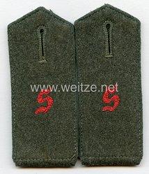 Wehrmacht Heer Einzel Schulterstück Mannschaften der Panzertruppenschule