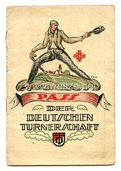 Weimarer Republik Pass der Deutsche Turnerschaft - Soester Turnverein für einen Mann des Jahrgangs 1867