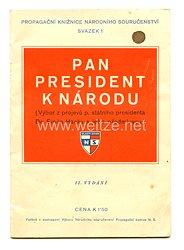 III. Reich - Tschecheslowakei - Narodni Sourucenstvi Politisches Leitheft
