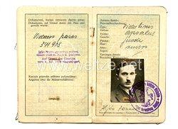 III. Reich - Litauen - Inlandspass für einen Mann des Jahrgangs 1886