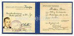 III. Reich / Lettland - Ausweis - Dienstbescheinigung für den Verlag und Druckerei