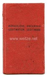III. Reich - Protektorat Böhmen und Mähren - Allgemeine Bürgerlegitimation für einen Mann des Jahrgangs 1872