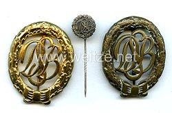 Bundesrepublik Deutschland ( BRD ) Deutscher Sportbund Abzeichen Bronze und Gold und Miniatur