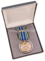 USA Military Achievement Medal in Case with Lapel Pin and Ribbon Bar