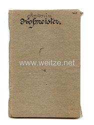 K & K Monarchie - Tschechien - Militärbuch für einen Mann des Jahrgangs 1890
