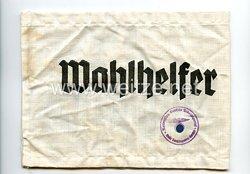 III. Reich Armbinde Hilfspolizei (HiPo) und Wahlhelfer