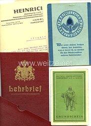 Freiwilliger Arbeitsdienst Gau Ostpreussen - Arbeitspaß und weitere Dokumente