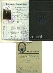 Reichsarbeitsdienst - Mitgliedskarte und weitere Dokumente