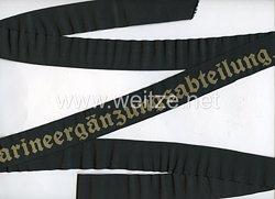 """Kriegsmarine Mützenband """"2. Marineergänzungsabteilung 2."""""""