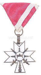 Kroatien Orden der Krone von König Zvonimir: Kreuz 3. Klasse mit Schwertern