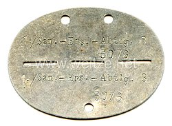 """Wehrmacht Heer Erkennungsmarke - """" 1./San.Ers.-Abtlg.3 """""""
