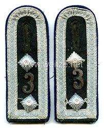 Wehrmacht Heer Paar Schulterstücke für einen Unterarzt der Sanitäts - Ableitung 3