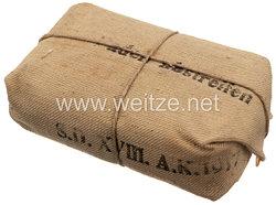 "Preußen 1. Weltkrieg Verbandpäckchen ""S.D. XVIII. A.K. 1917"""