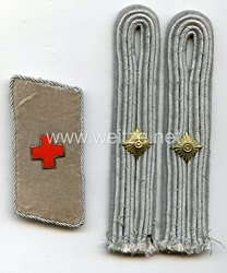 Deutsches Rotes Kreuz DRK Paar Schulterstücke und Einzel Kragenspiegelfür einen DRK-Oberführer