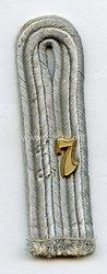 Wehrmacht Heer Einzel Schulterstück für einen Leutnant im Infanterie Rgt.17