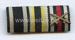 Bandspange eines sächsischen Veteranen des 1. Weltkriegs