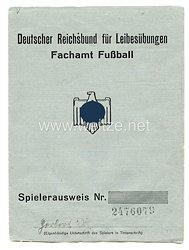 Deutscher Reichsbund für Leibesübungen ( DRL ) - Spielerausweis Fachamt - Fussball