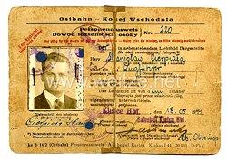 III. Reich - Ostbahn - Kolej Wschodnia Personalausweisfür eine Mann