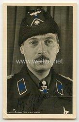 Heer - Originalunterschrift von dem 11. Brillantenträger Oberstleutnant Hyazinth Graf Strachwitz