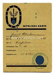 Arbeitsdank - Mitgliedskarte - Abteilung 3/132, Arbeitsgau XIII (Magdeburg)