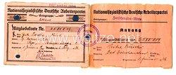 NSDAP - Ortsgruppe Lettland - Mitgliedskarte